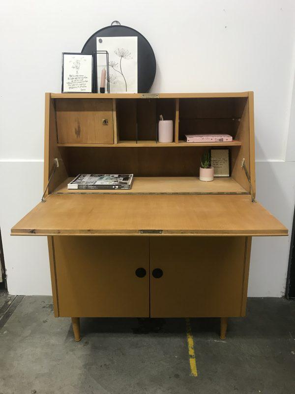 Vintage okergele secretaire